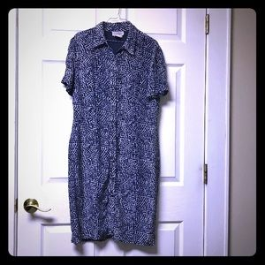 Adrianna papell vintage cute blue dress